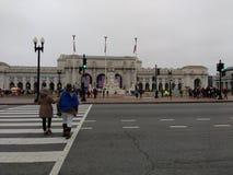 联合驻地,妇女` s 3月,华盛顿特区,美国 库存照片
