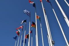 联合03的欧盟状态标志的旗子 免版税图库摄影
