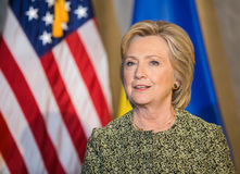 联大的希拉里・克林顿在纽约 库存图片