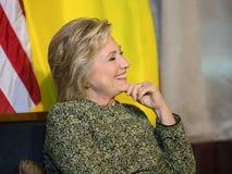 联大的希拉里・克林顿在纽约 免版税库存图片
