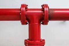 联接每消防栓火 库存图片