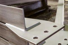 联接被镀锌的金属建筑特写镜头的形状的元素 库存图片