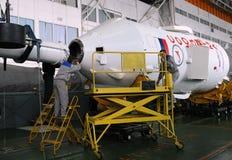 联盟号航天器综合化在贝康诺 免版税图库摄影