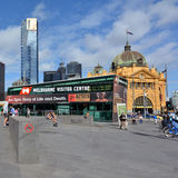 联盟正方形在墨尔本,澳大利亚 免版税库存图片