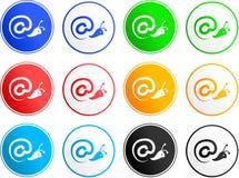 联络图标符号 免版税图库摄影