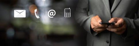 联络美国用户支持热线人连接电话用户支持 免版税库存图片