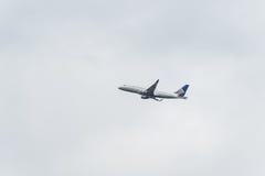 联航波音747飞机 图库摄影