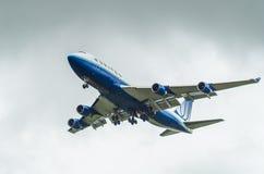 联航波音747 库存照片