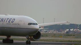 联航空中客车A330特写镜头  股票视频