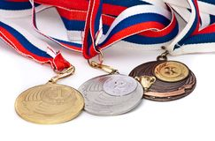 联邦奖牌俄语体育运动 免版税库存照片