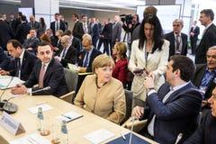 联邦德国安格拉・默克尔的大臣 免版税图库摄影