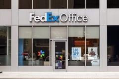 联邦快递公司办公室在街市的休斯敦,得克萨斯 免版税库存照片