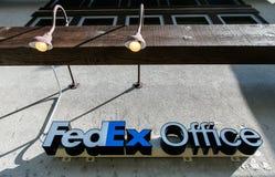 联邦快递公司办公室标志 免版税库存图片