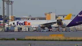 联邦快递公司装载的波音747 影视素材