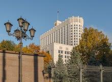 联邦政府房子krasnopresnenskaya莫斯科码头俄语 免版税库存图片