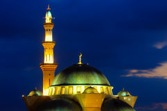 联邦疆土清真寺,在日出期间的吉隆坡马来西亚 库存照片
