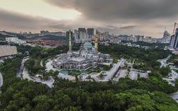 联邦疆土清真寺,马来西亚 免版税库存图片
