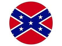 联邦的圆的旗子 向量例证