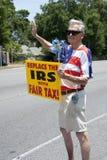 联邦税务局抗议 免版税库存照片