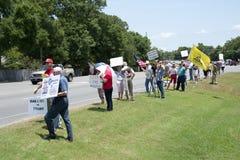 联邦税务局抗议 免版税图库摄影