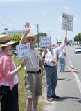 联邦税务局抗议 库存图片