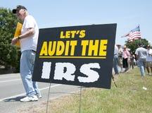 联邦税务局抗议 免版税库存图片