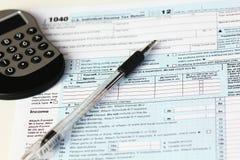 联邦税务局联邦所得税形式 免版税库存照片