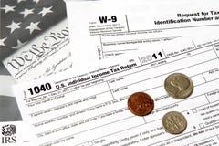 联邦税务局1040年从 免版税库存照片