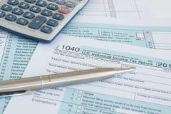 1040联邦税务局 库存图片