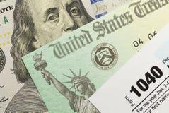 联邦税 库存照片