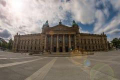联邦行政法庭在莱比锡 免版税库存照片