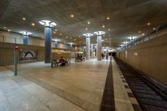 联邦议会地铁站(U-Bahn驻地)在柏林 免版税库存图片