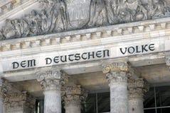 联邦议会的细节在柏林 库存照片