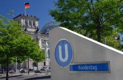 联邦议会:德国议会,柏林,德国 免版税库存图片