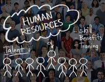 聘用工作职业概念的人力资源 库存图片