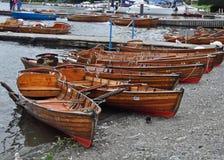 聘用的划艇 免版税库存照片