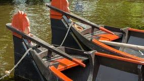 聘用的小船 免版税库存照片