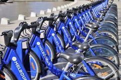 聘用的自行车在墨尔本 库存图片