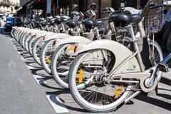 聘用的自行车 库存图片