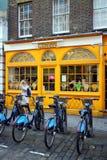 聘用的自行车 免版税库存图片