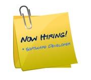 聘用的软件开发商岗位例证 图库摄影