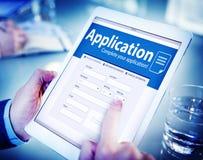 聘用补充就业概念的应用人力资源 免版税图库摄影
