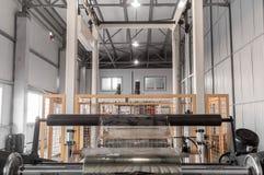 聚丙烯和聚乙烯的生产的车间 库存图片