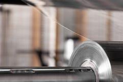 聚丙烯和聚乙烯的生产的车间 免版税库存图片