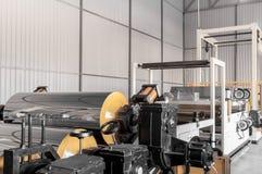聚丙烯和聚乙烯的生产的车间 图库摄影
