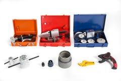 聚丙烯的工具焊铁 库存图片