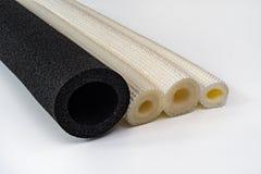 聚乙烯管子绝缘材料另外直径和col 库存图片