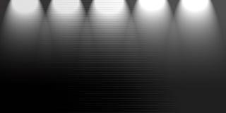 聚光灯黑色背景 库存图片