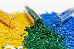 聚合物染料 塑料的染料 在粒子的颜料 免版税库存照片