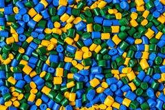 聚合物染料 塑料药丸 塑料的染料 颜料我 库存照片